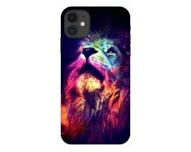 Husa Silicon Soft Upzz Print Compatibila Cu iPhone 11 Model Neon Lion
