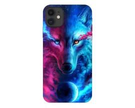 Husa Silicon Soft Upzz Print Compatibila Cu iPhone 11 Model Wolf