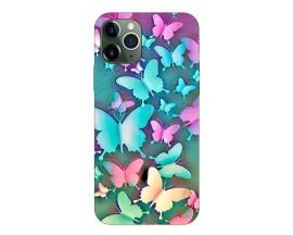 Husa Silicon Soft Upzz Print Compatibila Cu iPhone 11 Pro Model Colorfull Butterflies