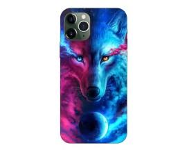 Husa Silicon Soft Upzz Print Compatibila Cu iPhone 11 Pro Model Wolf