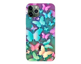 Husa Silicon Soft Upzz Print Compatibila Cu iPhone 11 Pro Max Model Colorfull Butterflies