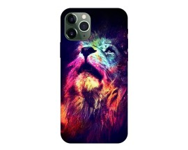 Husa Silicon Soft Upzz Print Compatibila Cu iPhone 11 Pro Max Model Neon Lion