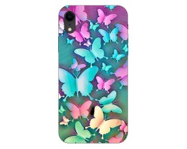 Husa Silicon Soft Upzz Print Compatibila Cu iPhone Xr Model Colorfull Butterflies