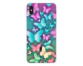 Husa Silicon Soft Upzz Print Compatibila Cu iPhone Xs Max Model Colorfull Butterflies