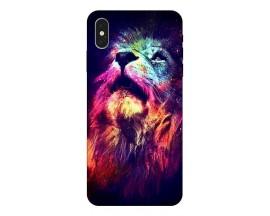 Husa Silicon Soft Upzz Print Compatibila Cu iPhone Xs Max Model Neon Lion