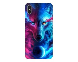 Husa Silicon Soft Upzz Print Compatibila Cu iPhone Xs Max Model Wolf
