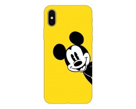 Husa Silicon Soft Upzz Print Compatibila Cu iPhone X/ iPhone Xs Model Cartoon