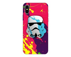 Husa Silicon Soft Upzz Print Compatibila Cu iPhone X/ iPhone Xs Model Helmet