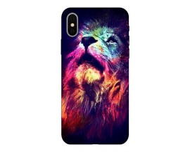 Husa Silicon Soft Upzz Print Compatibila Cu iPhone X/ iPhone Xs Model Neon Lion