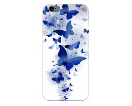 Husa Silicon Soft Upzz Print Compatibila Cu iPhone 6 Plus/ iPhone 6s Plus Model Blue Butterflies