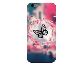 Husa Silicon Soft Upzz Print Compatibila Cu iPhone 6 Plus/ iPhone 6s Plus Model Butterfly