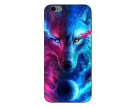 Husa Silicon Soft Upzz Print Compatibila Cu iPhone 6 Plus/ iPhone 6s Plus Model Wolf