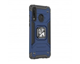 Husa Premium Ring Armor Wozinsky Pentru Huawei P30 Lite, Antishock Cu Ring Metalic Pe Spate - Albastru