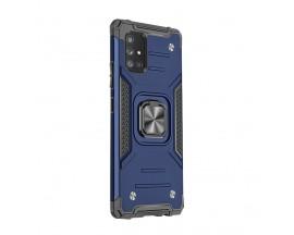 Husa Premium Ring Armor Wozinsky Pentru Samsung Galaxy A71, Antishock Cu Ring Metalic Pe Spate - Albastru