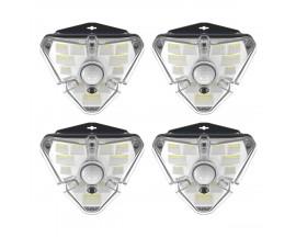 Set 4 x Lampa Solara Pentru Exterior Led Baseus Cu Detector De Miscare, Putere 1,2W - DGNEN-A01