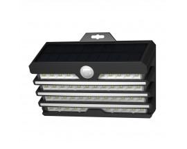 Lampa Solara Pentru Exterior Led Baseus Cu Detector De Miscare, Putere 5.1W, Negru - DGNEN-C01