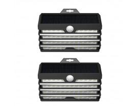 Set 2 x Lampa Solara Pentru Exterior Led Baseus Cu Detector De Miscare, Putere 5.1W, Negru - DGNEN-C01