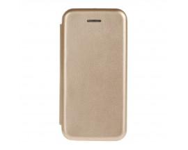 Husa Flip Carte Cu Magnet Lux Upzz iPhone 7 Gold