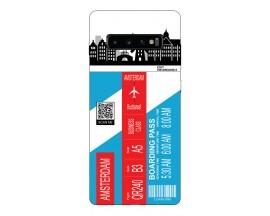 Husa Silicon Soft Upzz Print Travel Compatibila cu Samsung Galaxy S10 Model Amsterdam