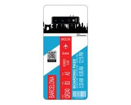 Husa Silicon Soft Upzz Print Travel Compatibila cu Samsung Galaxy S10 Model Barcelona