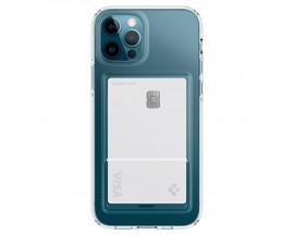 Husa Premium Spigen Liquid Crystal Slot Pentru iPhone 12 Pro Max, Slot Pentru Card, Antishock