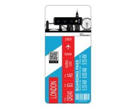 Husa Silicon Soft Upzz Print Travel Compatibila cu Samsung Galaxy S10 Model London