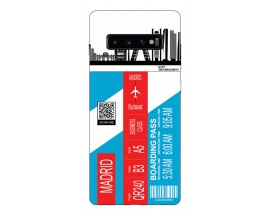 Husa Silicon Soft Upzz Print Travel Compatibila cu Samsung Galaxy S10 Model Madrid