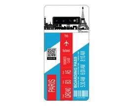 Husa Silicon Soft Upzz Print Travel Compatibila cu Samsung Galaxy S10 Model Paris