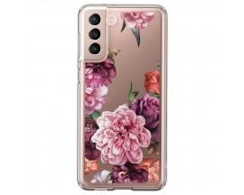 Husa Premium Spigen Cyrill Cecile  Pentru Samsung Galaxy S21 Plus, Silicon, Rose Floral