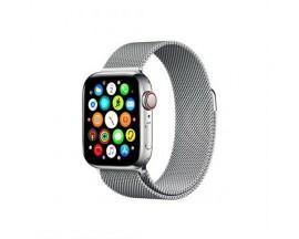 Curea Goospery Milanese Loop Compatibila Cu Apple Watch 4 / 5 / 6/ SE 44MM, Negru Silver