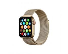 Curea Goospery Milanese Loop Compatibila Cu Apple Watch 4 / 5 / 6/ SE 44MM, Metalic Gold