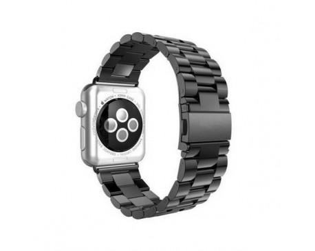 Curea Goospery Metalic Band  Compatibila Cu Apple Watch 4 / 5 / 6/ SE 44MM, Negru