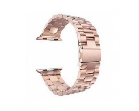 Curea Goospery Metalic Band  Compatibila Cu Apple Watch 4 / 5 / 6/ SE 44MM, Roz Gold
