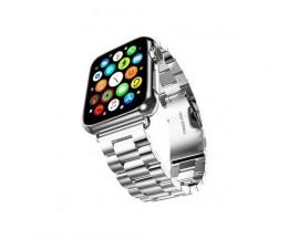 Curea Goospery Metalic Band  Compatibila Cu Apple Watch 4 / 5 / 6/ SE 44MM, Silver