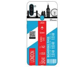 Husa Silicon Soft Upzz Print Travel Compatibila cu Samsung Galaxy A11 Model London