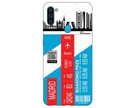 Husa Silicon Soft Upzz Print Travel Compatibila cu Samsung Galaxy A11 Model Madrid