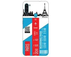 Husa Silicon Soft Upzz Print Travel Compatibila cu Samsung Galaxy A11 Model Paris