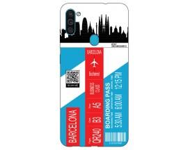 Husa Silicon Soft Upzz Print Travel Compatibila cu Samsung Galaxy M11 Model Barcelona