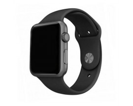 Curea Goospery Silicone Band Compatibila Cu Apple Watch 4 / 5 / 6/ SE 44MM, Silicon, Negru