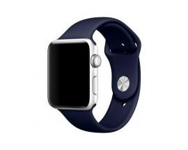 Curea Goospery Silicone Band Compatibila Cu Apple Watch 4 / 5 / 6/ SE 44MM, Silicon, Navy Blue