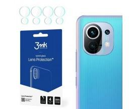 Set 4 Buc Folie  Nano Glass Pentru Camera 3mk Xiaomi Mi 11 5G, Transparenta