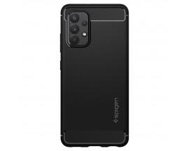 Husa Premium Spigen Rugged Armor Pentru Samsung Galaxy A52 / A52 5G, Silicon, Negru