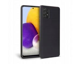 Husa Spate Upzz Tech Icon Compatibila Cu Samsung Galaxy A52 / A52 5G, Interior Alcantara, Silicon, Negru