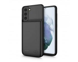 Husa De Protectie Cu Baterie Upzz Tech Compatibila Cu Samsung Galaxy S21, Negru, Capacitate 4800mAh