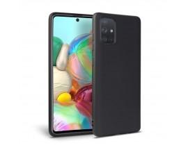 Husa Premium Upzz Liquid Silicon Pentru Samsung Galaxy A31,  Cu Invelis Alcantara La Interior , Negru
