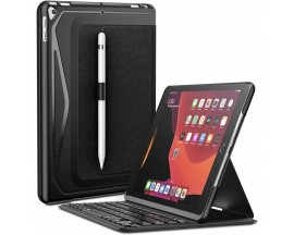 Husa Premium Infiland Cu Tastatura si Bluetooth, Suport Pentru Pen Compatibila Cu iPad 7 / 8 10.2inch 2019 / 2020, Negru