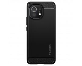 Husa Premium Spigen Rugged Armor Pentru Xiaomi Mi 11, Silicon, Negru