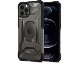 Husa Premium Spigen Nitro Force Compatibila Cu iPhone 12 Pro Max, Fumuriu