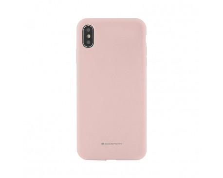 Husa Spate Mercury Goospery Silicone Compatibila Cu Samsung Galaxy A50, Interior Alcantara Roz