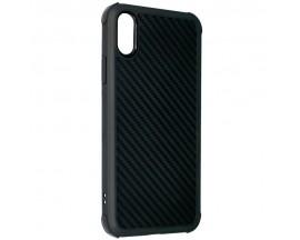 Husa Spate Silicon Roar Carbon Armor Antishock Compatibila Cu Iphone Xs Max, Negru
